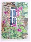 aquarelle graziella gd artiste fenetre fleurie vercors paysage