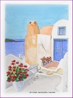 mini diap aquarelle graziella paysage grec grèce