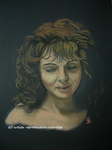 gd artiste peintre autoportrait pastel portrait