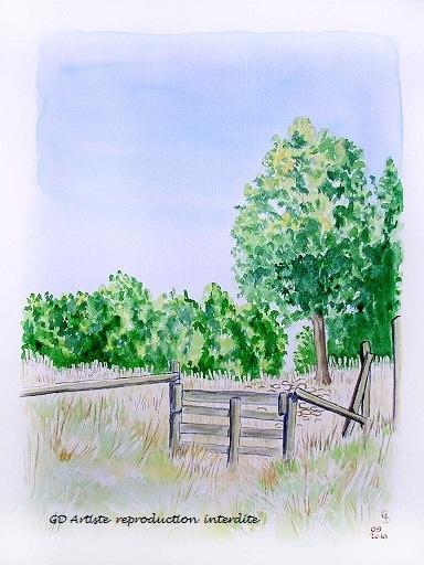 aquarelle,paysage aquarelle,route de presles,vercors,montagne,royans,paysage,isère,gd artiste